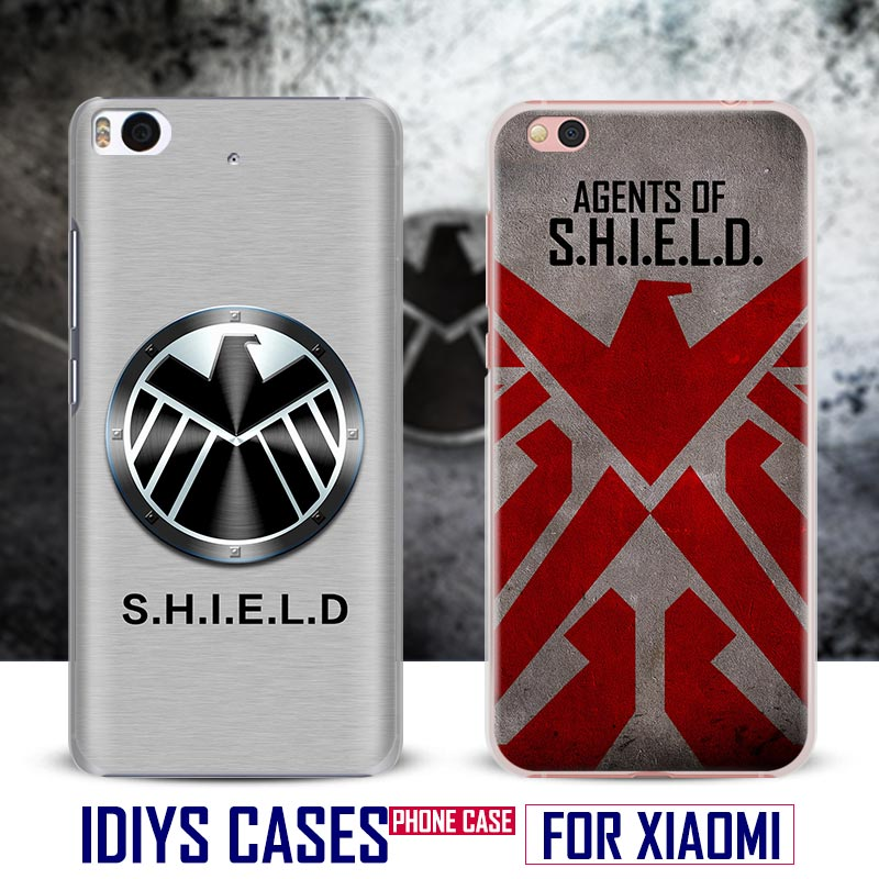 For Xiaomi Redmi 3S 3 Note2 3 4 Pro Mi4 Mi5 Mi4C Mi5S Mi5SPlus Comics S.H.I.E.L.D. HYDRA Shield Coque Phone Case Shell Cover Bag