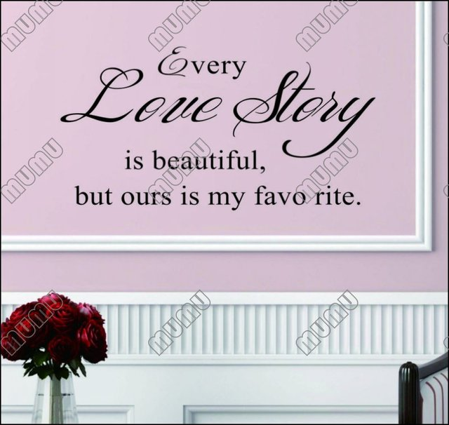 Every Love Story New Words And Proverbs English Poetry Wallpaper Wall Stickers