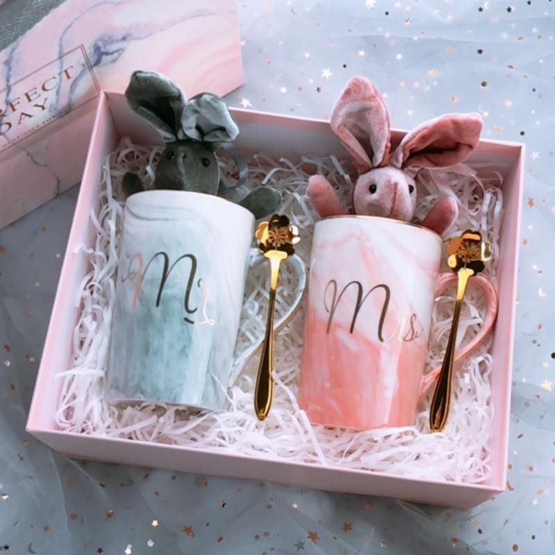 1set Lot Custom Name Anniversary Birthday Couple Gifts Ceramic Mug Cup Wedding Proposal Bride Groom Best Man Bridesmaid Gift