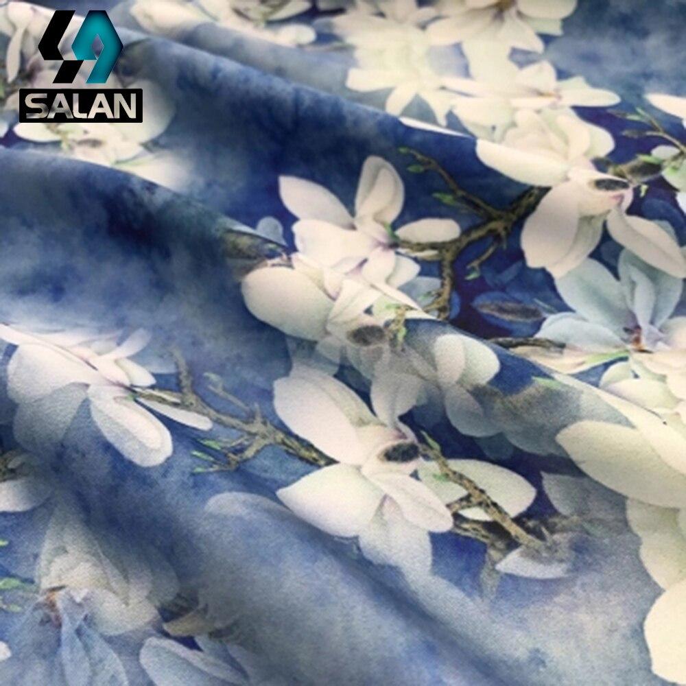 White Jade Flower High Grade Imitation Silk Fabric Quality Imitation