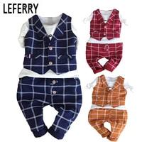 2018 Kids Clothes Baby Boy Clothing Sets 3PCS Gentleman Suit Toddler Boys Clothing Kids Boy Clothes