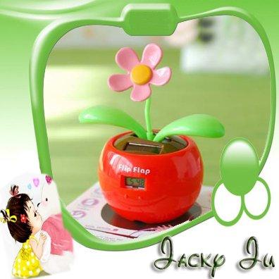 ad60850e5155fd 5pcs Lot Free Shipping New Funny Gift Magic Cute Flip Flap Swing Solar  Flower Solar Plant Swing Solar Toy-in Solar Toys from Toys   Hobbies on ...