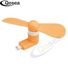 Qosea Mini Mobile Phone Fan Portable Flexible Cool Micro USB Fan Gadget For iphone 5 5s 6 6s 7 8 plus X  and iPad Cell Phone Fan
