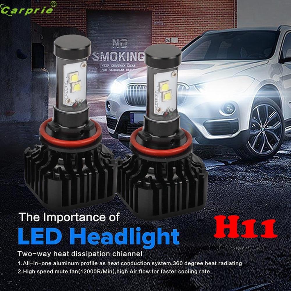 ФОТО AUTO 2016 H11 80W 8000LM wheeled machine LED Bulb Bright Auto DRL Lamp Bulb Headlight car-styling car light car styling Au 31