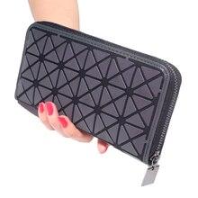 Купить с кэшбэком Popular Monster Eyes Large Capacity Women Wallets Multi-color Optional Contrast Color Men Leather Wallet Handbag Money Purse