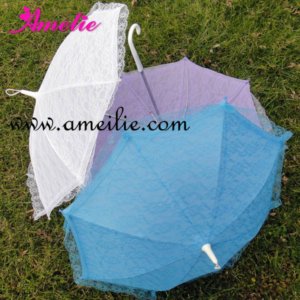 Free Shipping Small Child S Size Mixed Colors Lace Umbrellas Baby Shower Party Umbrella