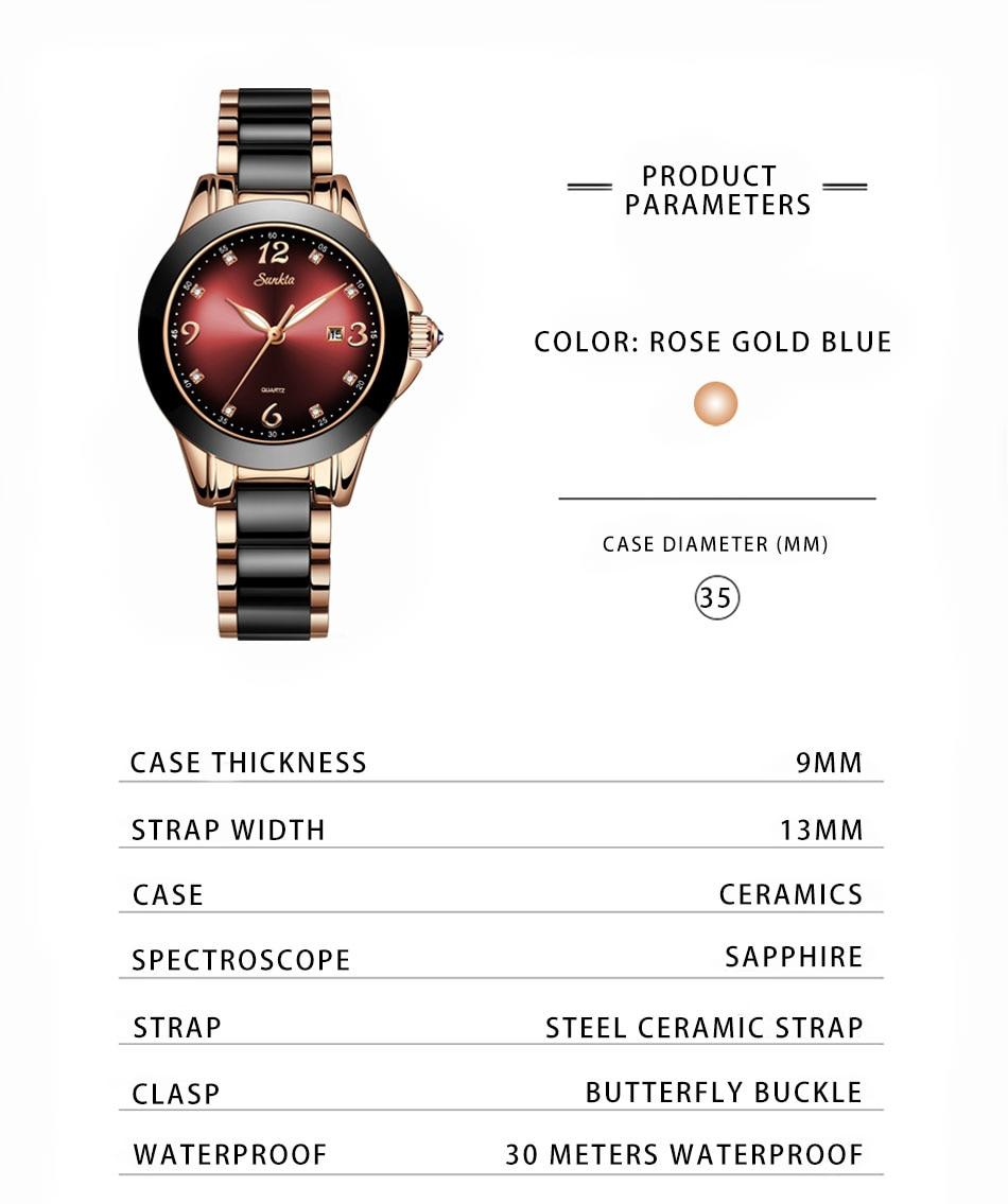 Cerâmica relógio Do Esporte De Quartzo Pulseira
