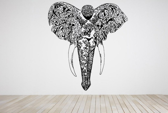 Removable Wall Stickers Wall Room Decor Art Vinyl Decal Sticker Mural Elephant Head Body Large Big & Removable Wall Stickers Wall Room Decor Art Vinyl Decal Sticker ...