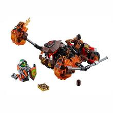 2016 Nexo Knights building block Moltor Lava Smasher assemblage brick Aron Mini blocks compatible with lego 70313 for kids gifts