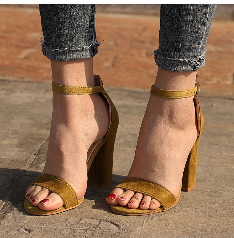 HTB10LV2bjzuK1Rjy0Fpq6yEpFXaQ Women Sandals Ankle Strap Summer Shoes Woman High Heels Sandals Plus Size 43 Chaussures Femme Open Toe Women Summer Sandals