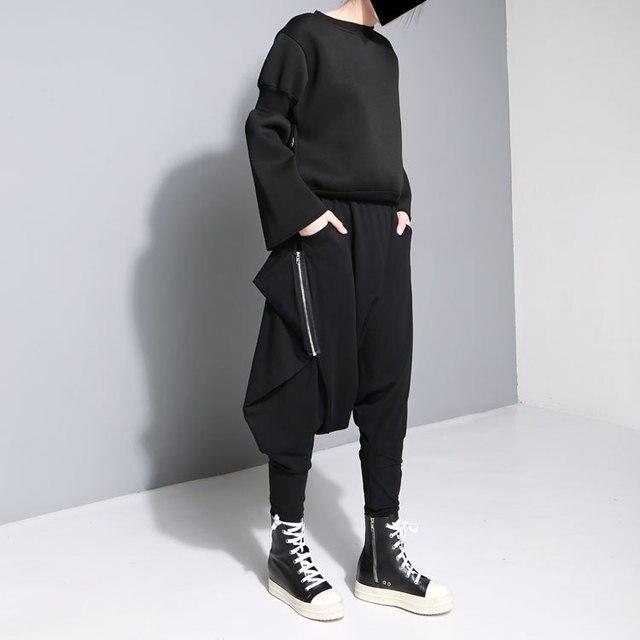 2016 Autumn Section Women's New Harajuku Pants European Station Tide Street Hip Hop Out-of-file Design Legs Harem Womn Pants
