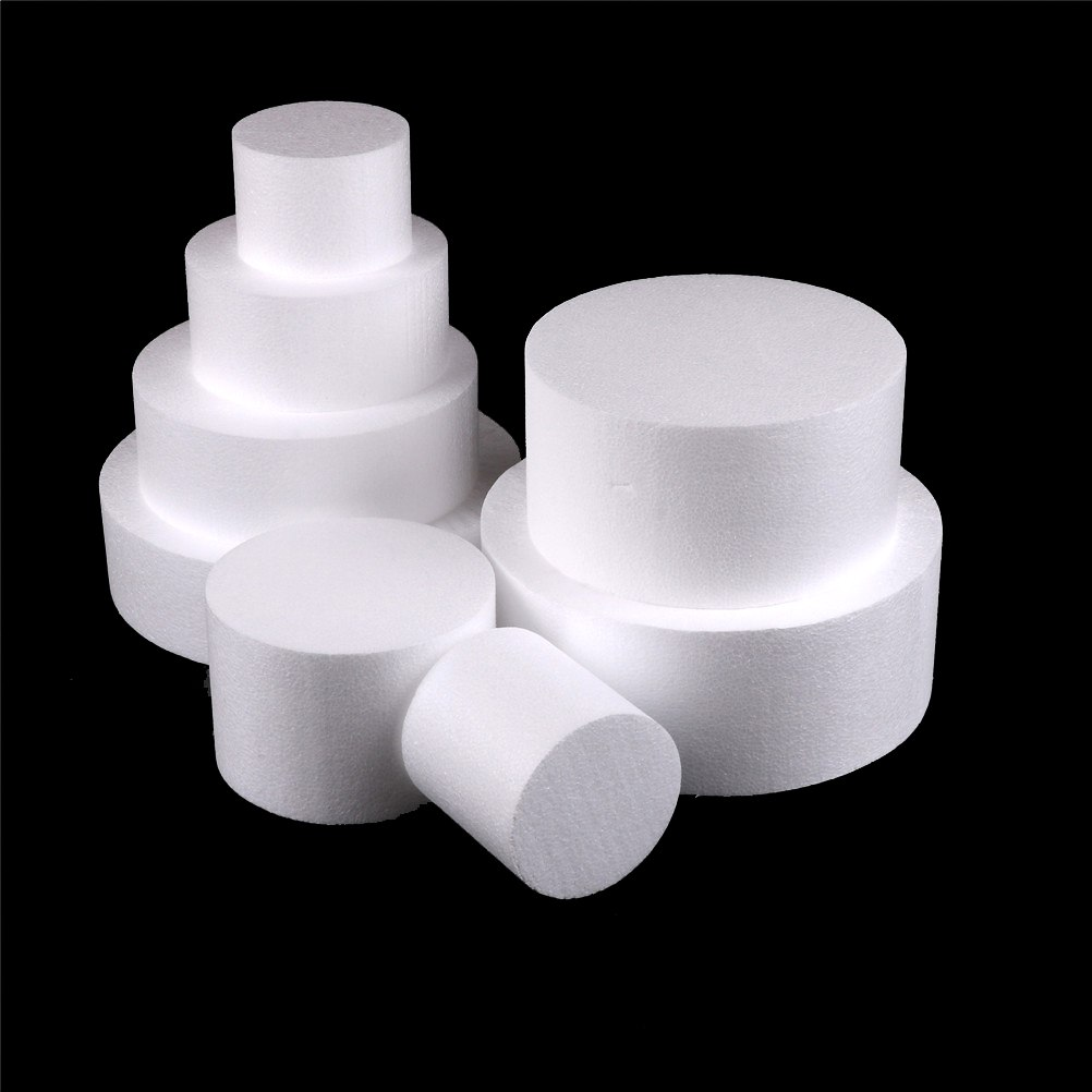 Round Styrofoam Foam Cake Dummy Sugarcraft Flower Decor Patrice Model 4/6/8/10 Inch