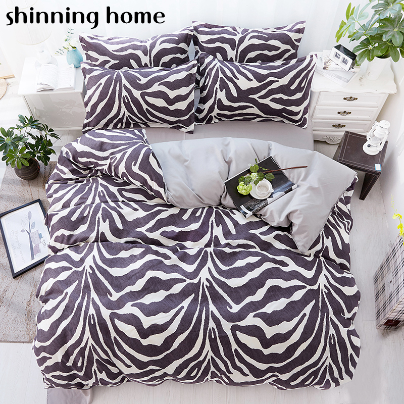Flamingo Zebra pattern Cartoon 3/4pcs Bedding Sets Twin Full Queen King Duvet Cover Bed Sheet Pillowcase Bedlinen Bedclothes