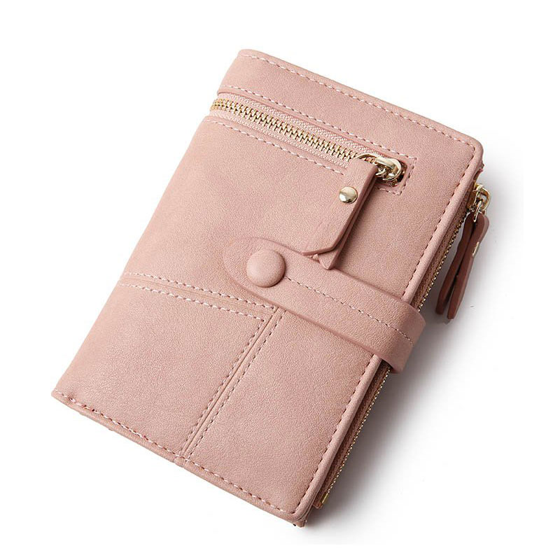 Latest Women wallets high capacity lady travel Cheque card holder rfid wallets short zipper coin purse wallet portefeuille femme