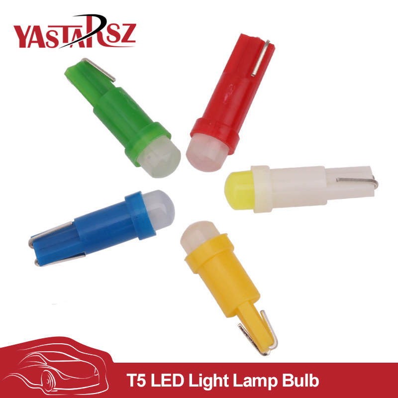 10 pcs T5 led car dashboard light instrument automobile door Wedge Gauge reading lamp bulb 12V cob smd Car Styling 50x t5 cob led ceramic dashboard gauge instrument wedge base car auto side wedge light lamp bulb 12v white blue red yellow page 8