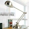 Современный простой складной утюг СВЕТОДИОДНЫЕ настольные лампы исследование работа в офисе лампы для чтения ночник Студенты учатся глаз защиты лампы