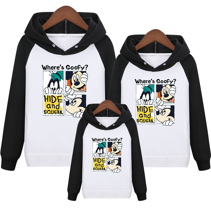 HTB10LVwVNTpK1RjSZFKq6y2wXXaJ - Family Matching Outfits Kids Long Sleeves Cartoon Mickey Hoodies Coats Father Mother Daughter Son Sweatshirts Dad Mom Hoodies