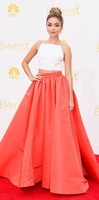 Emmy Awards Сара Хайленд двух частей Спагетти ремень вечерние бинты атласная Праздничное Платье Red Carpet Знаменитости платья невесты