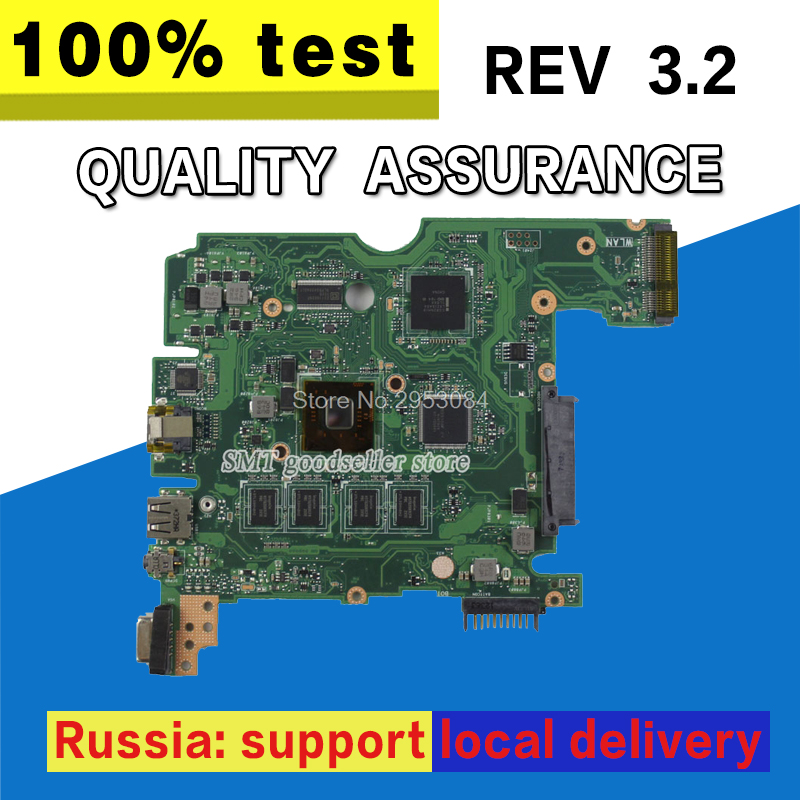 For ASUS X101CH laptop motherboard X101CH 1G mainboard REV3.2 on board memory 100% tested hot for asus x551ca laptop motherboard x551ca mainboard rev2 2 1007u 100% tested new motherboard