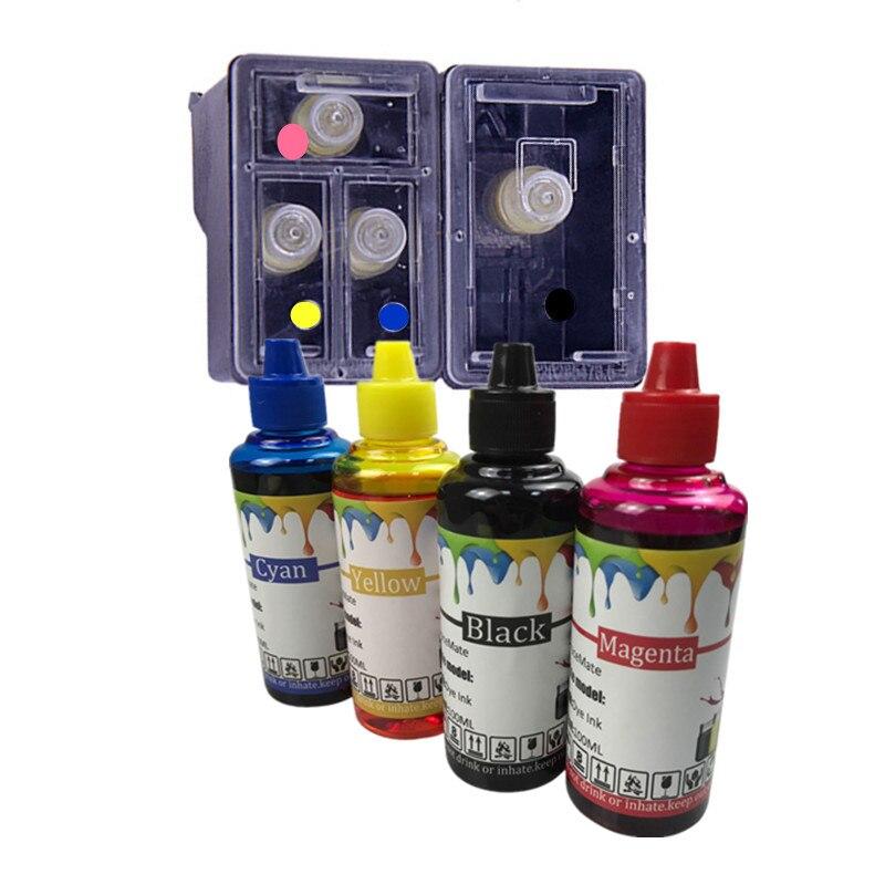 Cartuccia di inchiostro riutilizzabile di ricambio per HP 123 123XL ricarica di inchiostro per Deskjet 1110 2130 2132 2133 2134 3630 3632 3637 3638 3639
