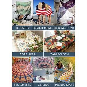 Image 5 - Peinture nuages à motif tournesol et ciel, tapisserie solaire psychédélique en macramé, décoration murale, serviettes de plage, maison de ferme