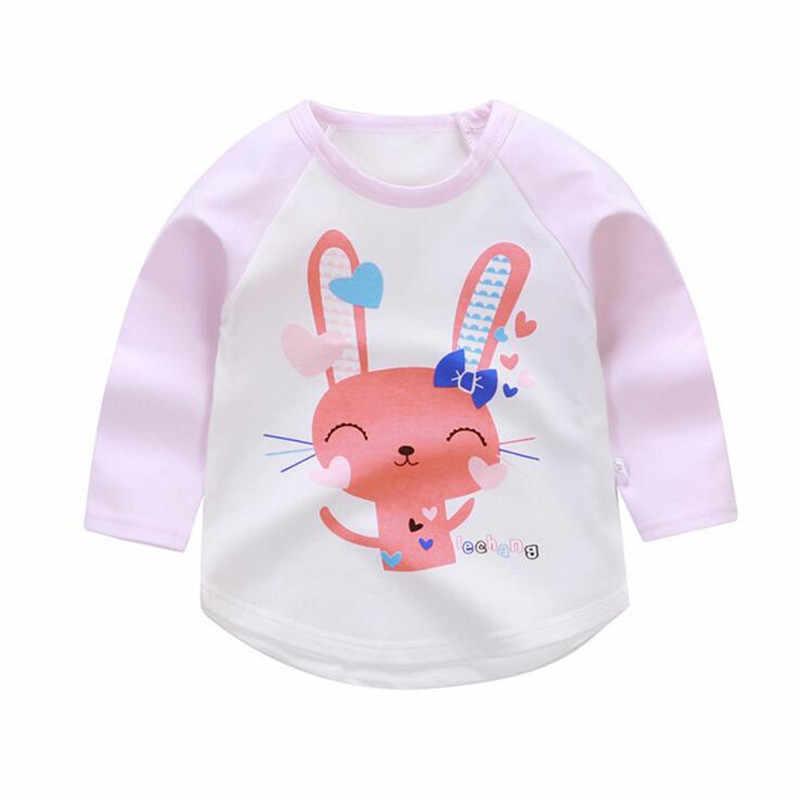 Новые весенне-летние футболки с героями мультфильмов для мальчиков и девочек 100% хлопковая одежда с длинными рукавами для мальчиков детские футболки с принтом детские футболки топы для малышей