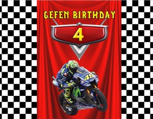 Image 5 - Sensfun אופנוע קריקטורה מסיבת יום הולדת תפאורת סטודיו תמונה מותאמת אישית באנר ויניל רקע 7x5ft