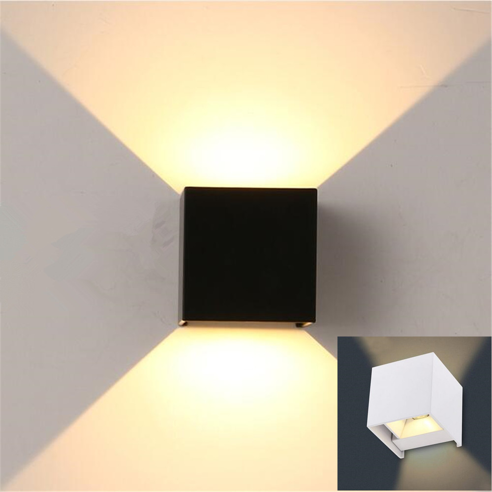 Aliexpress.com : Buy high quality 7W outdoor LED wall light wall Mounted Cube lamp,Path lamp ...