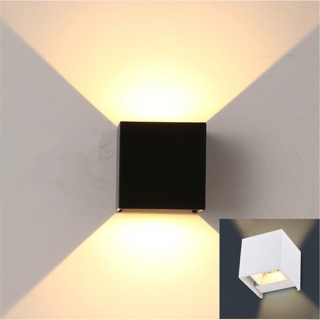 Aliexpress com   Buy high quality 7W outdoor LED wall light wall Mounted Cube lamp,Path lamp