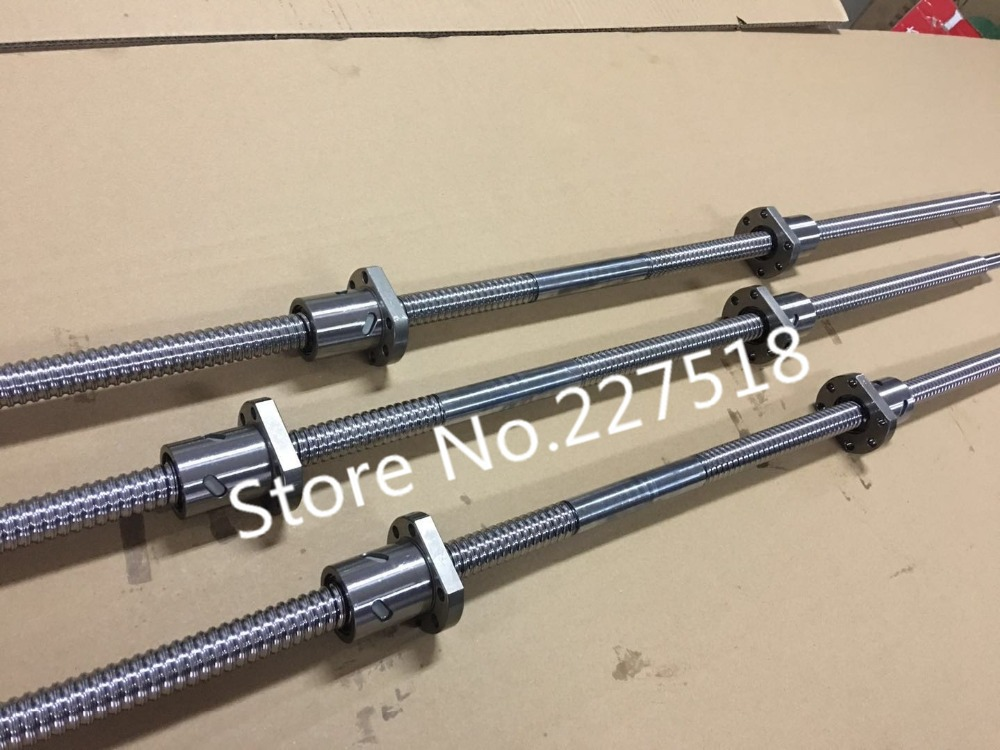 5sets ball screw Left thread Butt (butt-joint)  Right thread SFU2510 ball screw 450mm+2  ball nut with end machined cnc part