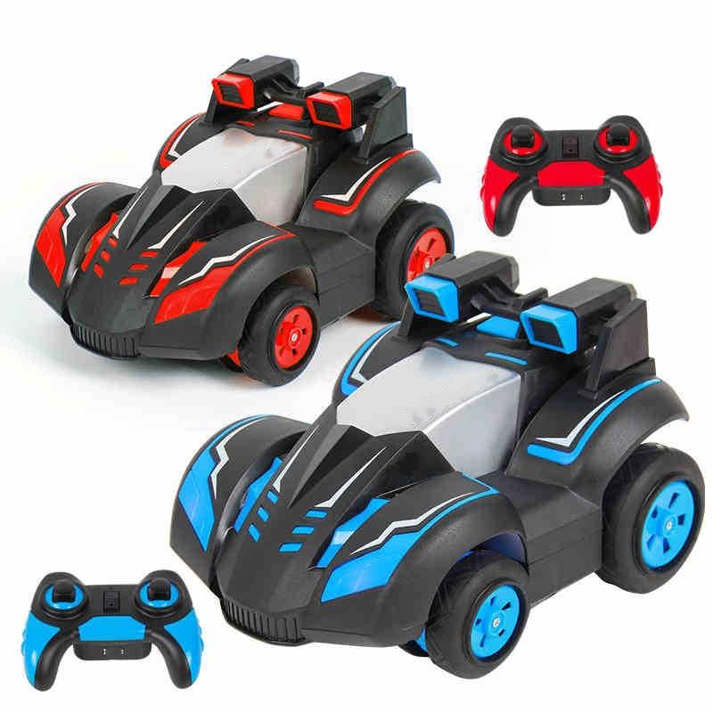 2.4G télécommande voiture déformable voitures quatre roues motrices cascade dérive hors route rc voitures cool éclairage jouets 360 degrés fonction