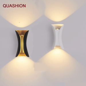 Image 1 - Luminária moderna de parede ip65 para áreas externas, para áreas externas, 12w e 24w, led, para parede, sala, aisle, parque, paisagem, jardim luz clara