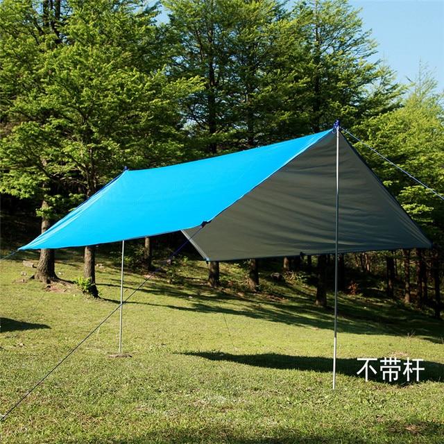 Portable Multi-function Silver Coating Anti UV Ultralight Sun Shelter Beach Tent Pergola Awning Canopy Camping Sun Shelter 30