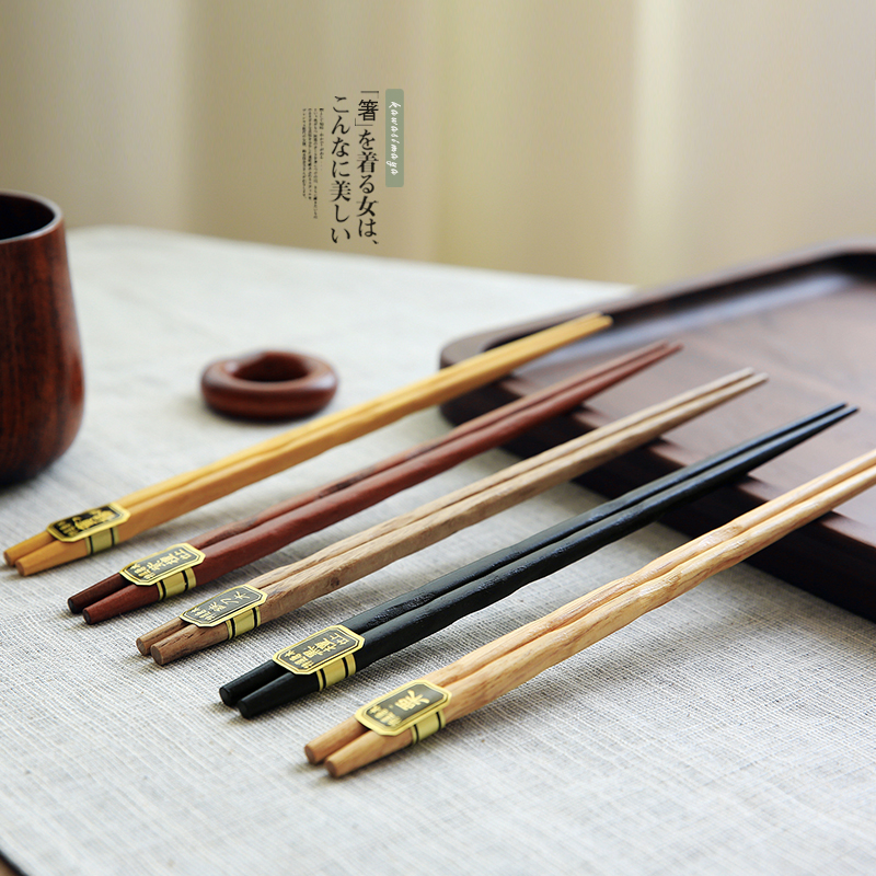 5 Pair Japan Style 5colors Natural Wooden Chopsticks Sushi Tableware - Kitchen, Dining and Bar - Photo 1