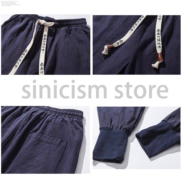 Sincism Store Men Harem Pants Japanese Casual Cotton Linen Trouser Man Jogger Pants Chinese Baggy Pants 2