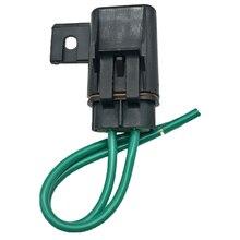 1 Juego de portafusibles en línea impermeable para automóvil + fusible de cuchilla mediana de 40 a para coche, barco, motocicleta, camión, etc. 14cm