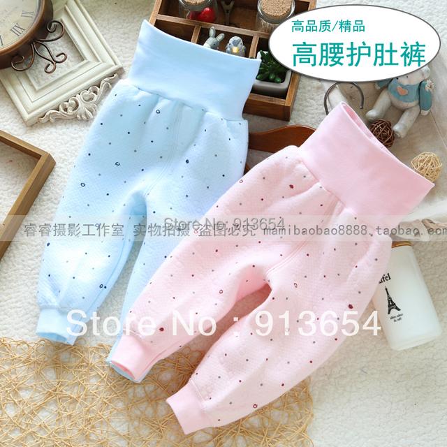 Envío gratis nuevo 2014 otoño invierno pantalones ropa de bebé pantalones de los niños de unisex caliente protección del vientre pantalones de bebé de algodón