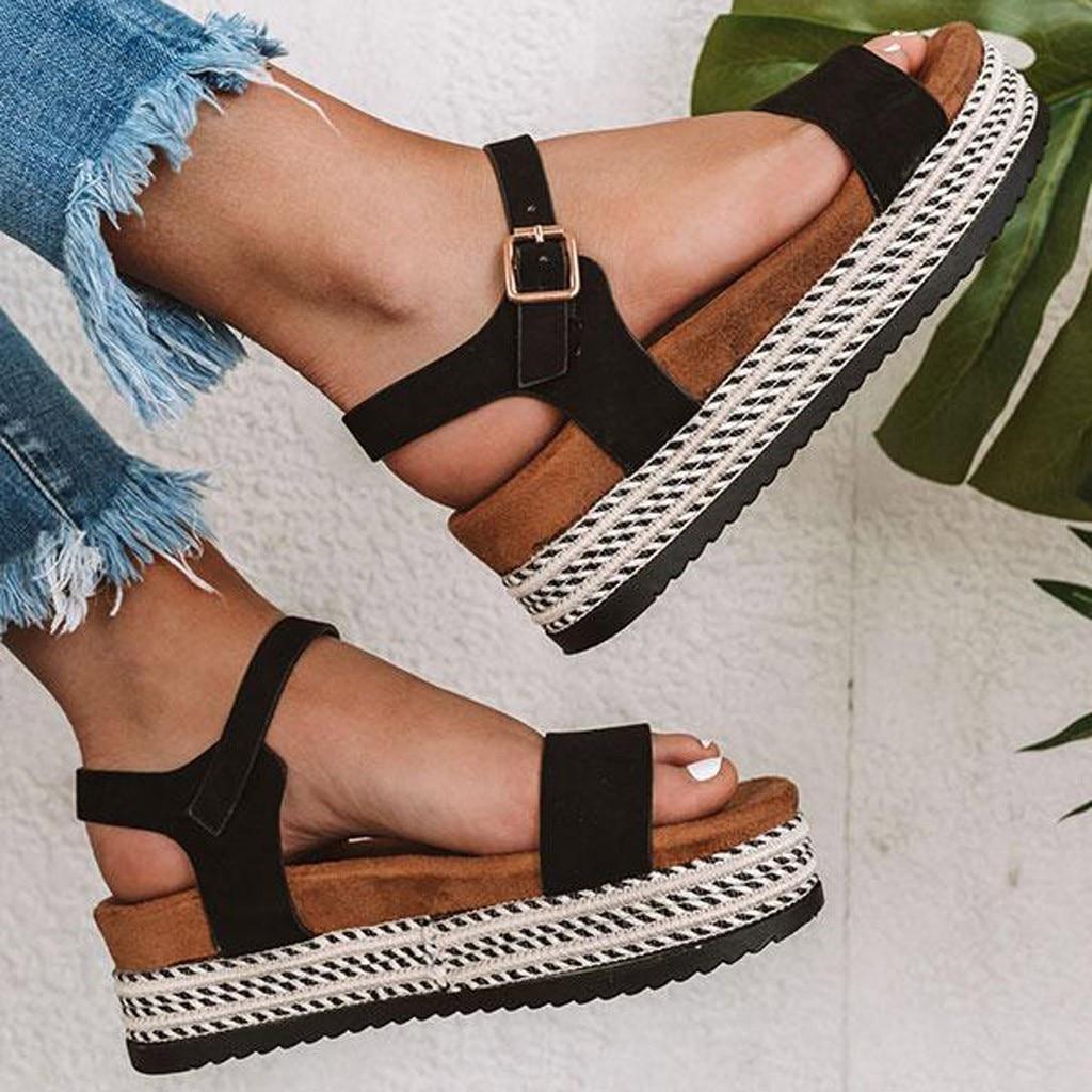 Sandals Women Wedges Shoes Pumps High Heels Sandals Summer Flip Flop Chaussures Femme Platform Beach Sandals Chaussures Femme