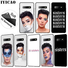 IYICAO James Charles X Blank Canvas Soft Silicone Phone Case for Samsung Galaxy S10 S9 S8 Plus S6 S7 Edge S10e E TPU Black Cover(China)