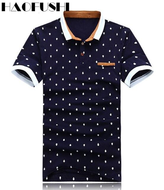 81cb68c70 Nuevo 2017 marca polo camisa de algodón para hombres de moda cráneo dots  imprimir camisa polo