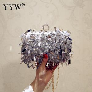 Image 2 - ゲリー女性結婚式の財布高級デザイナーのウェディングハンドバッグ指リングハンドバッグスパンコールイブニングパーティークラッチバッグゴシックラインストーン