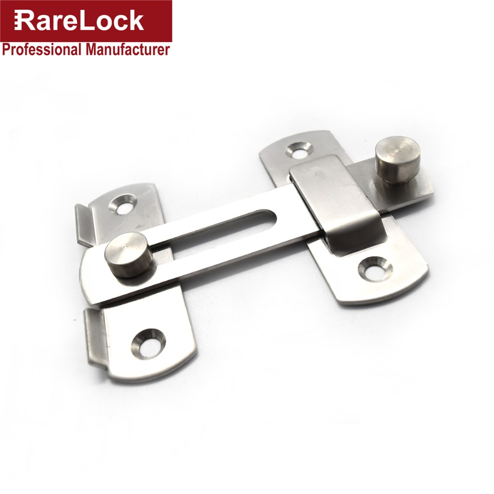 Stainless bathroom accessories - Rarelock Christmas Supplies Hasp Latch Door Lock Stainless Bolt For Window Sliding Door Bathroom Accessories Diy