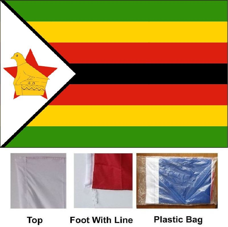 ZIMBABWE FLAG 3 x 2 BRAND NEW POLYESTER EYELETS POST FREE IN UK