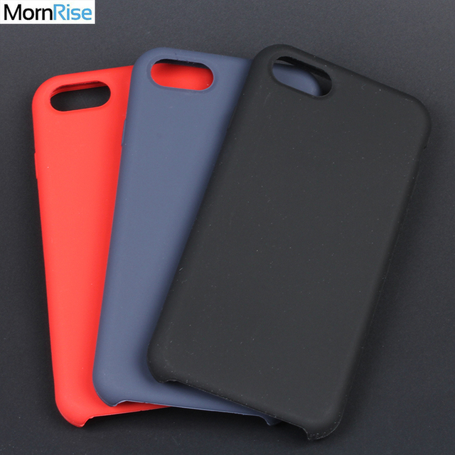 Luxury Back Cover For Apple Iphone 8 7 Silicone Case Liquid Silicon