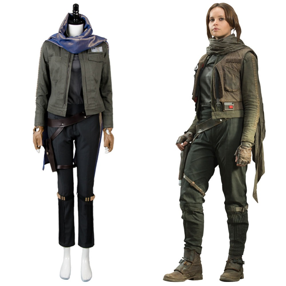 Rogue One: A Star Wars Story Jyn Erso Stardust Outfit Cosplay Costume Halloween Carnival Full Set