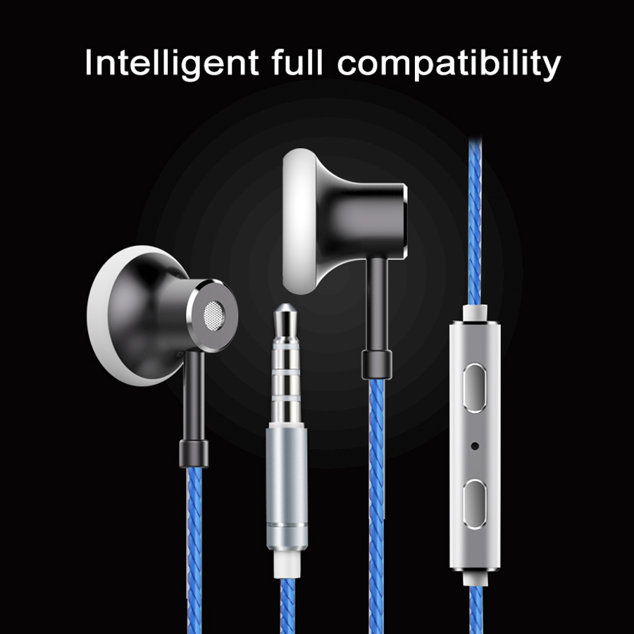 HEADROOM MS16 Earphone with Mic Sports Running Music HIFI Headset Women Man Earplugs Stereo Bass for iPhone xiaomi MP3 Player langsdom a10 super bass in ear earphone hifi music earplugs metal headset with mic general for phone iphone xiaomi sony pc mp3