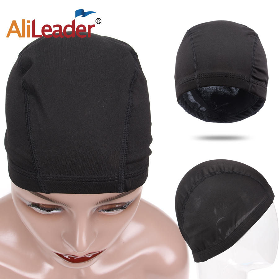 Alileader Glueless Hairnet Spandex Dome Cap For Making Wigs Nylon Strech Wig Caps Glueless Elastic Cap With Band Stretchable