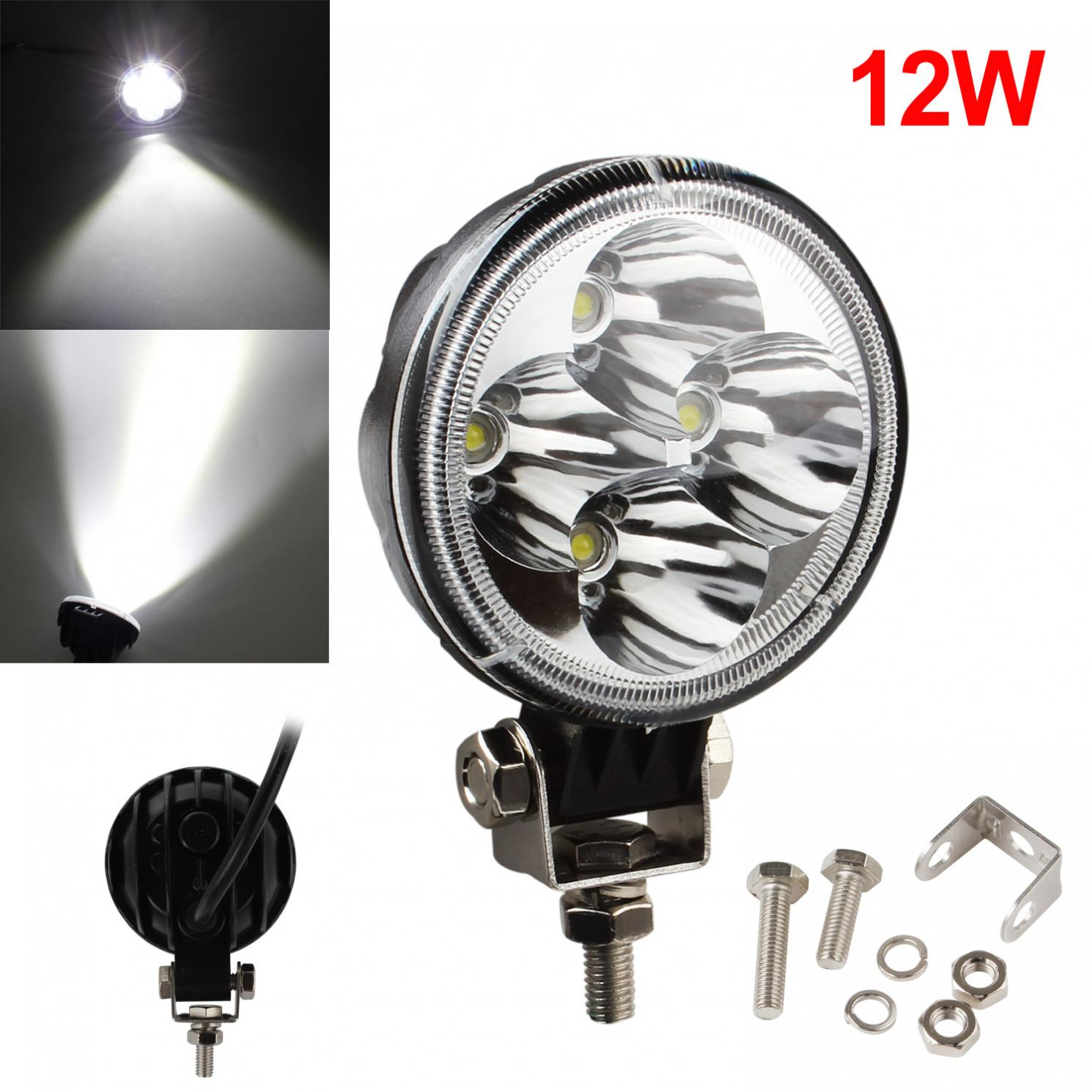 3 Inch 12W 6500K Waterproof LED Working Light Bar for  Motorcycle / Tractor / Boat / 4WD Offroad / SUV / ATV new 15 inch single row 12 3w 36w led light bar for offroad 4 4 suv atv tractor