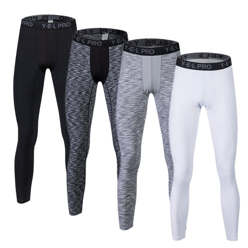 2018 New Men Compression Pants Bodybuilding Fitness Skinny Leggings Tights Pants Compression Running Pants Clothing