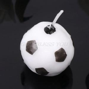 Image 3 - 6 pièces/ensemble ballon de Football Football bougies pour fête danniversaire enfant gâteau décoration fournitures livraison directe